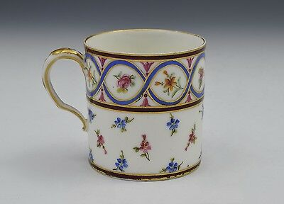 18thC Sevres Coffee Can Goblet Litron Marie Jeanne Barbe Bunel