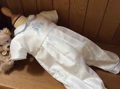 Boys Christening Gown - Personalised Baptism Romper Suit - Outfit - Dedication