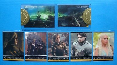 LOT/Set GAME Of THRONES GoT Season 2 PROMO Cards P1- P5 + Case TOPPERS CT1 & CT2