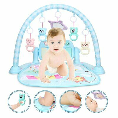 3 in 1 Fitness Baby Gym Play Mat Lay Play Music And Lights Fun Piano Pink UK