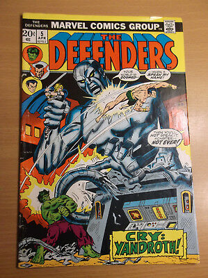 Marvel: Defenders #5, Origin Of The Valkyrie, Next Thor Movie, Hot, 1973, Vg+!!!