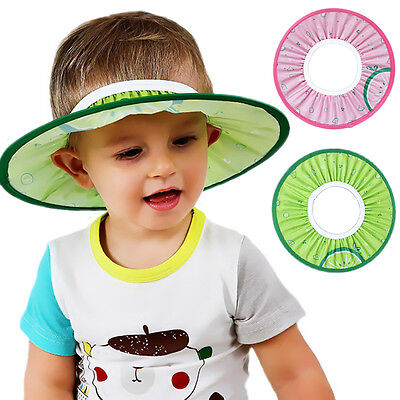 Baby Kids Bath Hat Shower Shampoo Visor Eye Shield Cap Wash Hair Waterproo COP