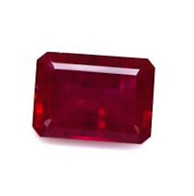 Lab Created Synthetic Ruby With visible Inclusions Octagon(6x4-30x20)Loose Stone