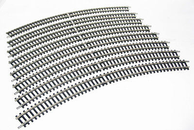 Hornby 8 x R607 2nd Radius Double Curve Track (8 Make A Circle).- Aust. Warranty