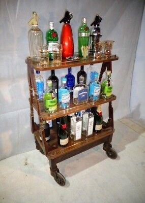 Vintage Drinks Trolley Hotel Professional 50s 60s Cocktail Trolley
