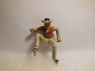 Vintage Timpo Solid Cast Wild West Wagon Driver Plastic Toy Soldiers 1:32