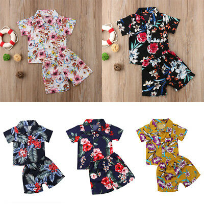 AU Stock Toddler Baby Kids Boy Tops T-shirt Pants Outfits Summer Casual Clothes