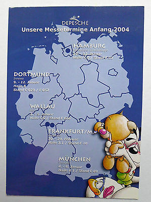 Diddl Messe-Karte  ##  ANFANG 2004  ##  Depesche Messetermine