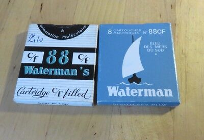 Waterman CF C/F cartouches cartridges