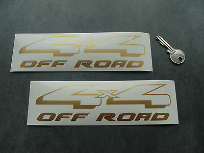 2x stickers auto 4x4 off road 18cm Or / Gold decal pegatinas aufkleber B22-930
