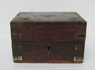 Vintage Old Collectible Rare Primitive Wooden Perfume Bottle Box