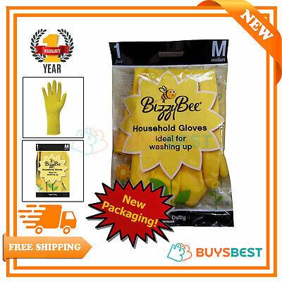 Bizzybee Durable Cotton Lined Household Gloves Medium 0999-M