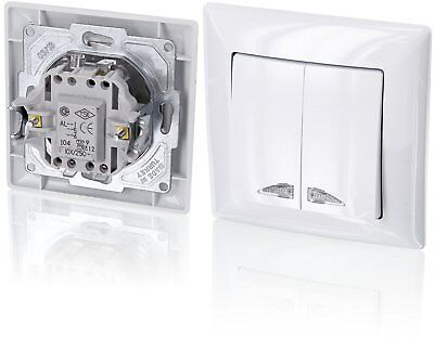 Up 2 Compartment/Two-Way Switch with LED Lighting – All-in-one – Frame with + G1
