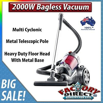 Deluxe Heavy Duty 2000W Bagless Vacuum Cleaner Dust 2.5L Multi Cyclonic Cleaning