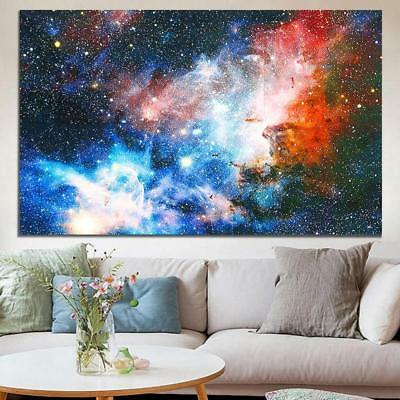 Space Galaxy Universe Planet Poster Fabric Silk Painting Wall Print Art Home DIY
