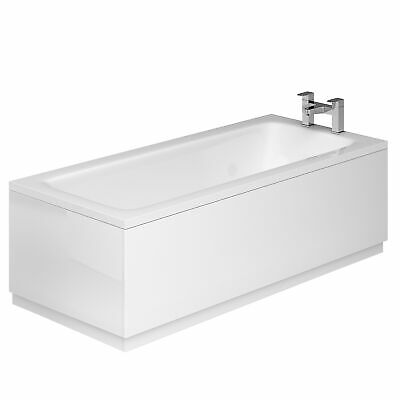 High Gloss White MDF Wooden Bath Adjustable Panel & Plinth Front End Cut-To-Size