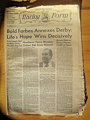 DAILY RACING FORM 1976 Kentucky Derby Bold Forbes Angel Cordero