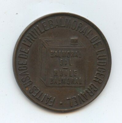 Canada Token Balmoral Oil (#1306) Nice Condition. 25MM.