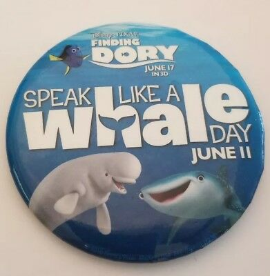 Disney Button | Speak Like a Whale Day Button | Limited Edition