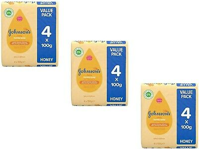12 Pcs Johnsons Baby Soap Joney With Baby Oil And A Touch Of Honey Leaves 100G