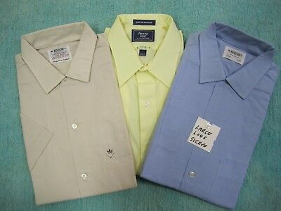 """3-VTG 1970's NOS Arrow """"Made In America"""" Dress & Casual Lg. Shirts Cotton &Rayon"""