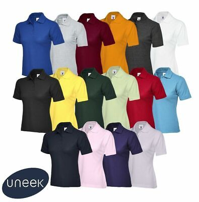 Uneek Ladies Polo Shirt Sizes 8 - 22 Womens Casual Tee Classic Fit (UC106) Work
