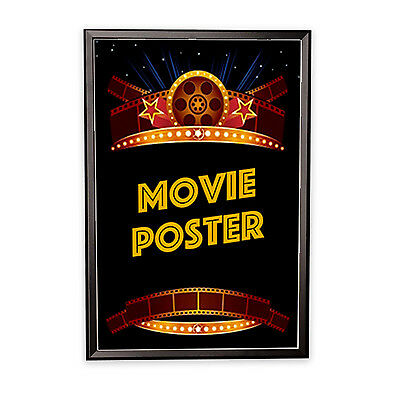 Movie Poster Frame - 27 inch x40 inch Black with Square Corners