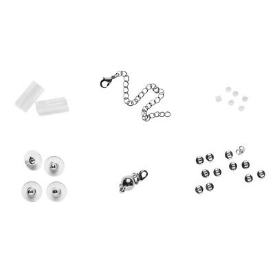 26-Piece Jewelry Aid Set - Earring, Necklace and Ring Repair and Maintenance Kit
