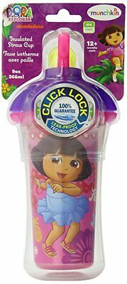 Munchkin Dora the Explorer Click Lock Insulated Straw Cup, 9 Oz -4 color choices