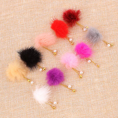 3D Fur Ball Nail Magnet Removable Women Charms Nail Art Accessories DIY Making