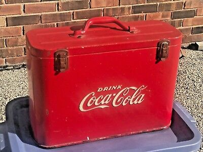 Coca Cola Airline Cooler 1940'S All Original With Opener Great Solid Shape