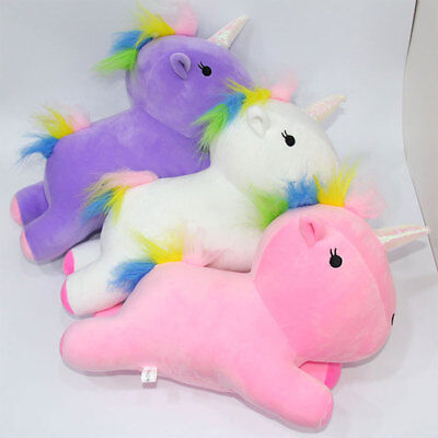 Cute Rainbow Pony Horse Doll Pillow Festival Nursery Comfortable Gifts Toy