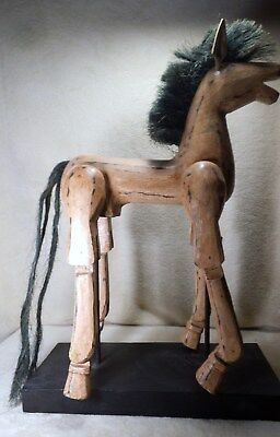 horse wooden - very attractive - old time look - handmade
