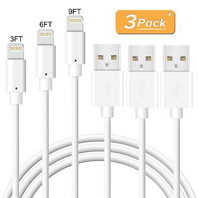 3 6 9Ft Long Lightning Cable Apple iPhone X 7 8 Plus Heavy Duty Charging Cord