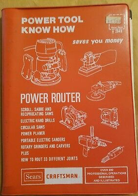 SEARS CRAFTSMAN POWER TOOL KNOW HOW: POWER ROUTER (1977 Edition)