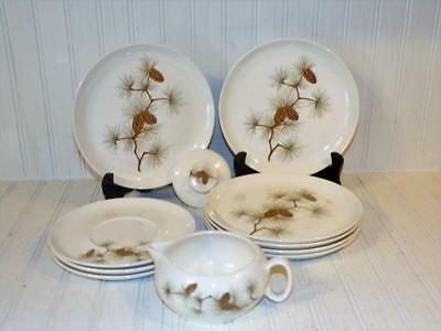 W.S. George Ranchero PINECONE PINE CONE PINEHURST Mixed Lot Salad Plates Plus