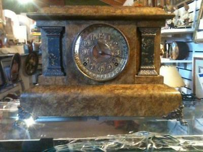 1895 Antique Seth Thomas Adamantine  8 Day Mantle Clock ~W/ KEY