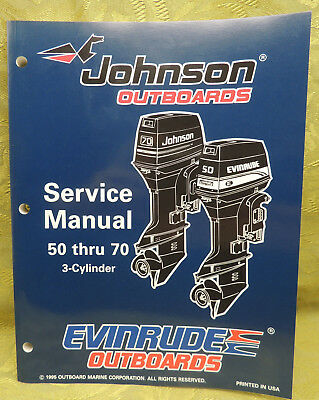1996 Johnson Outboards Service Manual 50 60 65 70 HP Evinrude 3  Cylinder