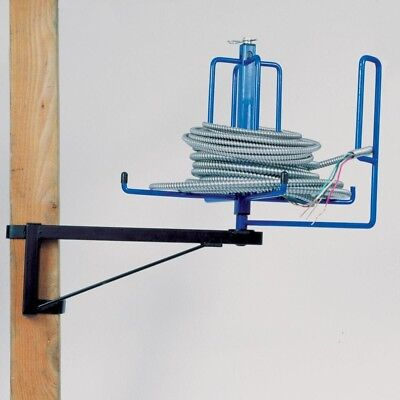 WIRE SPOOLER SPOOL Cable Reel Dispenser Floor Rack Stud Mounted ...