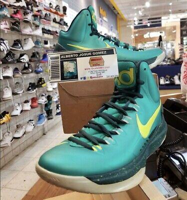 1248a681f5e2 NIKE ZOOM KD 5 Hulk Atomic Teal Volt 554988-300 Men s Basketball ...