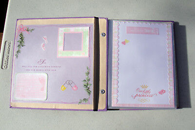 Baby's First Year Memories Premade Scrap Book Photo Album For Girls