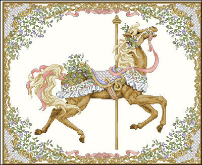 Carousel Horse from 4 Seasons - 1 Horse only - Cross Stitch Chart - FREE POST