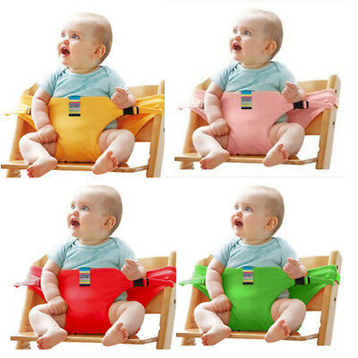 AU Portable Baby High Chair Booster Safety Seat Strap Harness Dining SeatBelt CL