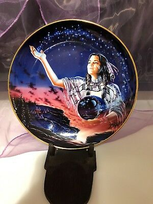 "Royal Doulton  FRANKLIN MINT Native American ""MAIDEN OF THE EVENING STARS"""