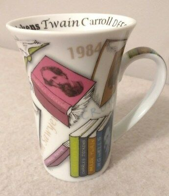 NOVEL TEA Readers Tea Cup Paul Cardew 2011 Coffee Mug Books Authors Gift