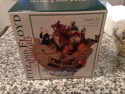 Vintage Fitz And Floyd Noah's Ark  Music Box -  in Original Box - rain rain go