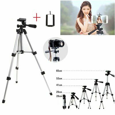Professional Camera Tripod Stand Mount With Phone Holder for Cell Phone Camera