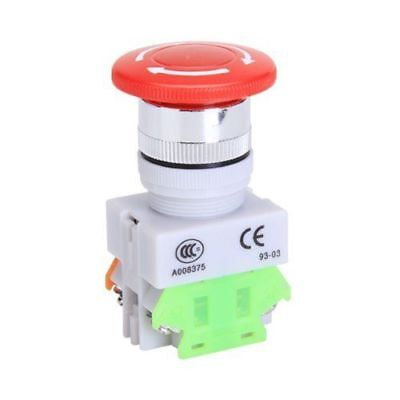 USA Emergency Stop Switch Push Button Mushroom 4 Screw Terminals 600V/10A