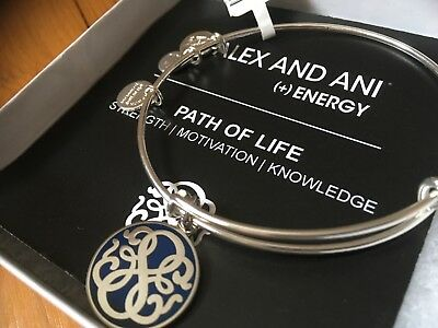 Alex and Ani Path of Life Bracelet Intuition Earrings Love Stud Blue Green