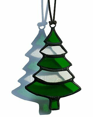 Handmade Xmas Gift Stained Glass Christmas Trees Ornament Window decoration Sunc